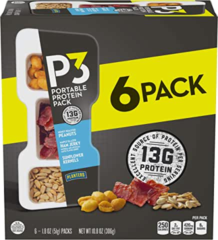 6-Pack Planters P3 Portable Protein Pack (1.8 oz)