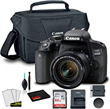 $640 » Canon EOS 800D DSLR Camera with 18-55mm Lens (1894C002AA) + Canon EOS Bag + Sandisk Ultra 64GB Card + Clean and Care Kit (International Model)