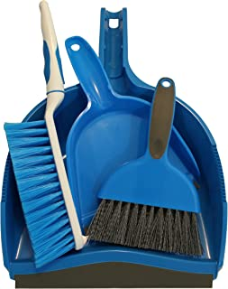 Dustpan and Brush Set, Pack of 2 Sets (4 pieces) Cage Cleaner for Guinea Pigs, Cats, Hedgehogs, Hamsters, Chinchillas, Rabbits, Reptiles and Other Small Animals, Cleaning Tool