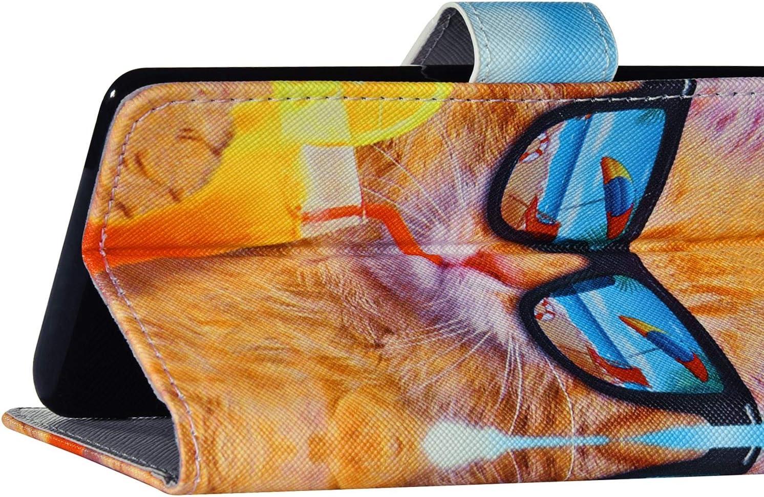 Surakey Handyh/ülle f/ür Samsung Galaxy S10 H/ülle,Galaxy S10 Schutzh/ülle Retro Muster PU Leder Tasche Flip Case Brieftasche Lederh/ülle Handytasche mit Kartenf/ächer St/änder,Blaue Wolken