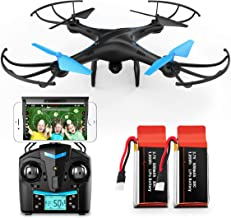 Force1 U45W Drone with Camera for Adults - Remote Control FPV Drone, VR Compatible with 720p HD WiFi Drone Camera and 2 Dr...