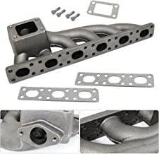 For Bmw 3 Series E36 E46 Inline 6 I6 Cast Iron T3 T4 Turbo Turbocharge Exhaust Manifold Upgrade Wastegate Flange Racing