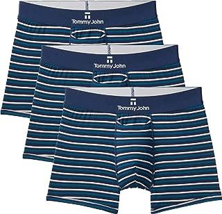 Men's Second Skin Trunks - 3 Pack - Comfortable Breathable Soft Striped Underwear for Men