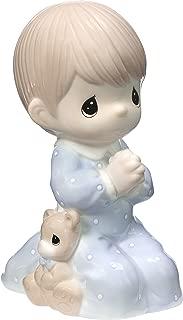 Precious Moments Praying Boy Jesus Loves Me LED Porcelain Night Light 185031 Nightlight, One Size, Multi