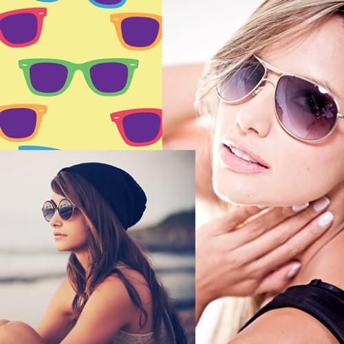 Collage de photos de lunettes de soleil