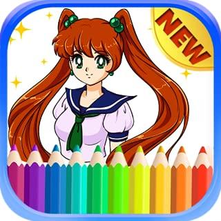 Manga Coloring Book Anime