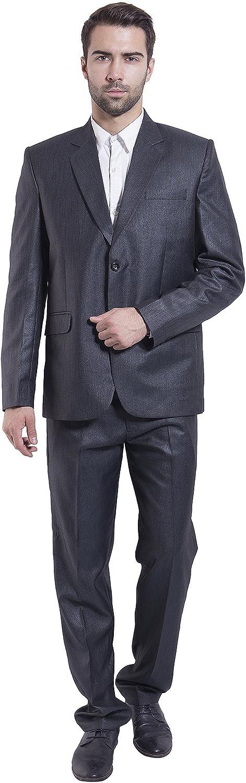 Wintage Men's Poly Viscose Two Button Notch Lapel Suit - Three colors