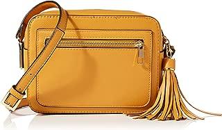 Bolso de Hombro 02012283 Color:Amarillo styleBREAKER Bolso de Bandolera Redondo Multifuncional de Mujer y ri/ñonera Monocolor con Cremallera