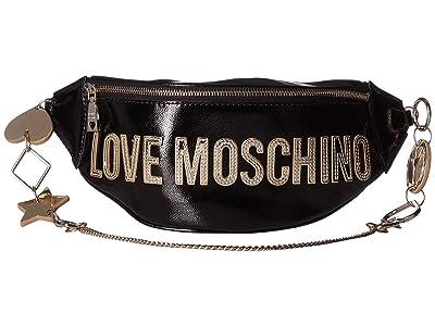 LOVE Moschino Logo Belt Bag (Nero) Handbags