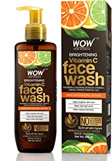 WOW Skin Science Brightening Vitamin C Face Wash - No Parabens, Sulphate, Silicones & Color (200mL)
