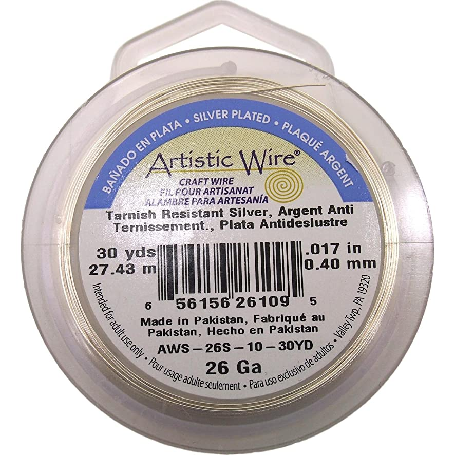 Artistic Wire Craft NonTarnish Silver Plated 26 Ga 15Yd