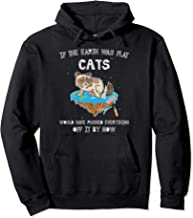 Flat Earth Cat Funny Kitten Universe Space Sci-Fi Science Pullover Hoodie