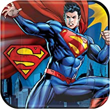 Amscan Superman Dinner Plates Count
