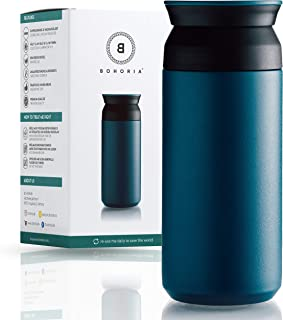 Isolierbecher Premium steel black 0,47 ltr Thermos Edelstahl doppelwandig