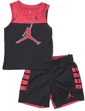 Nike Air Jordan bebé niños 2 Piezas Camisa y Corto Set – Rojo ...