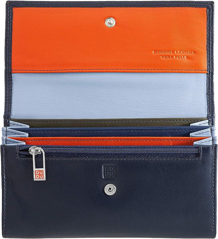 dudu portafoglio porta carte di credito a bustina in pelle con protezione anticlonazione 8031847173710