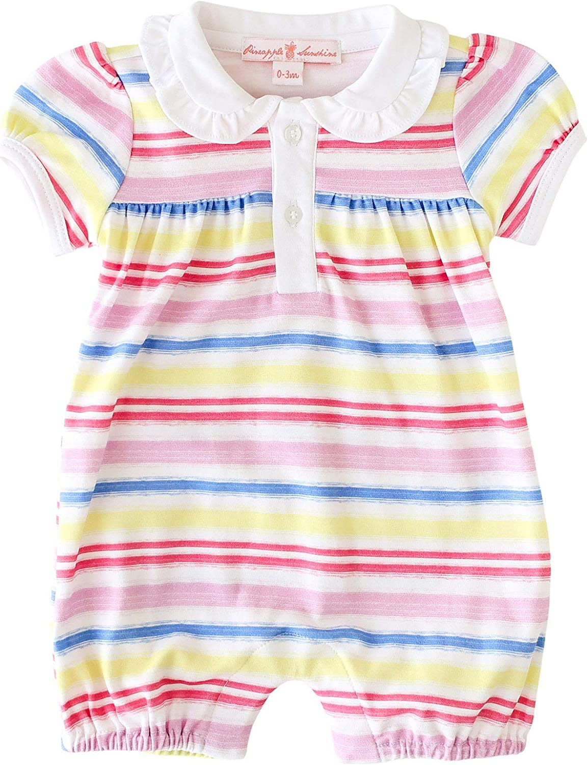 Rainbow Max 66% OFF Stripe 70% OFF Outlet Romper Collared