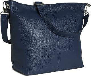 cfef0855adbb Genuine Italian Soft Grained Leather Cross Body Hobo Shoulder Slouch Bag  Handbag With Cotton Like Lining