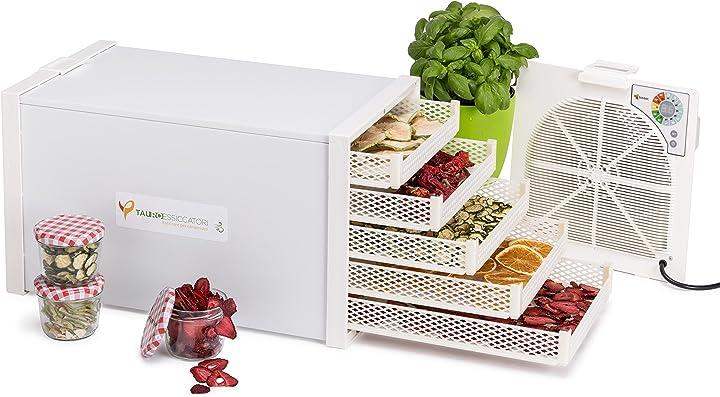 Essiccatore alimentare domus b5 a flusso orizzontale con 5 cestelli in materiale plastico 550 w fino a 3 kg B017A56Q5K