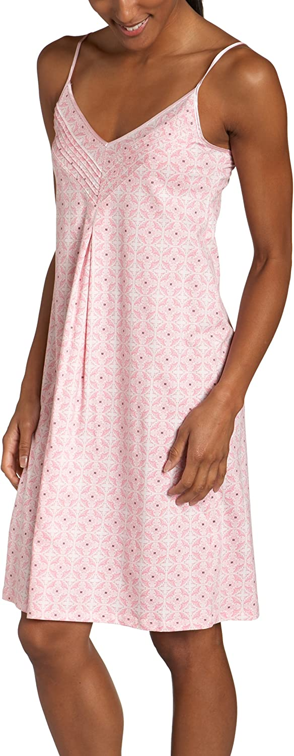 Nautica Women's Manufacturer direct delivery Tile Print Strappy Chemise Max 72% OFF Sleep Knit