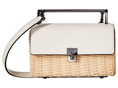 Botkier Lennox Crossbody Straw (Marshmallow) Cross Body Handbags