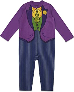 DC Comics Joker Boys Zip-Up Costume Coverall (Baby and Toddler Sizes)