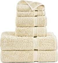 Indulge Linen 100% Cotton Turkish Towel Set (Beige, Towel Set - 6 Piece)