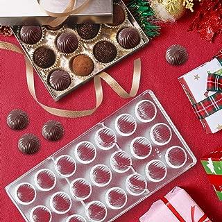 Jeteven Chocolate Candy Bon Bon Mold, Non-stick PC Polycarbonate Mould 21 Cavities (Screw Thread)