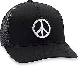 Peace Hat – Peace Sign Trucker Hat Baseball Cap Snapback Golf Hat (Black)