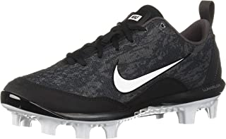 Women's Hyperdiamond 2 Pro MCS Baseball Shoe, Black/White - Thunder Grey, 8 Regular US