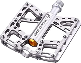BONMIXC Mountain Bike Pedals, 9/16 Cycling Four Pcs Sealed Bearing Bicycle Pedals