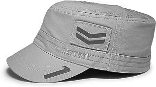 Mach 1 Hero 100% Cotton Army Cap Cadet Hat Military Flat Top Cap - Lunar Grey - Size Medium