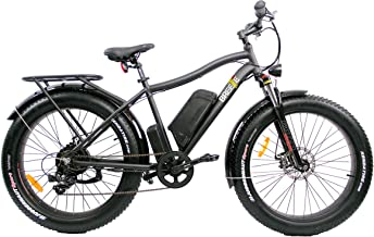 Electric Fat Tire eBike Powerful Rear Hub Motor, Ride 40+ Miles Per Charge, Hand Throttle & Pedal Assist, Reach speeds up to 29 MPH,Sport Tires-Rides in Snow,Rain, Beach Cruiser,Off Road Trail Riding