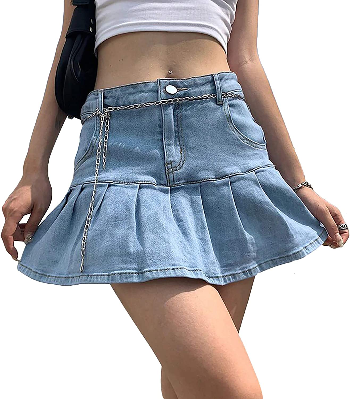 Women's Lace Mini Pleated Skirt Cute Bow Checkered High Waist Short Skirt