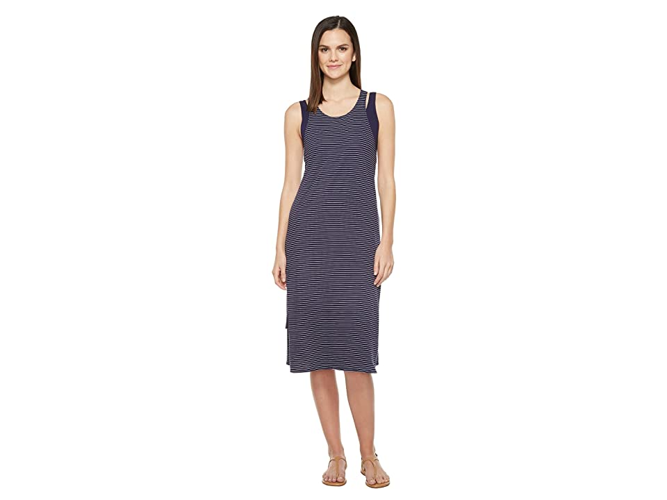 Michael Stars Cafe Stripe Layered Tank Dress (Nocturnal) Women