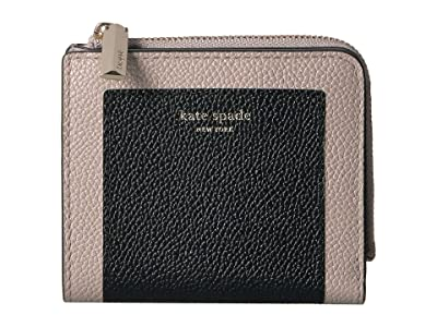 Kate Spade New York Margaux Small Bifold Wallet (Black/Warm Taupe) Bi-fold Wallet