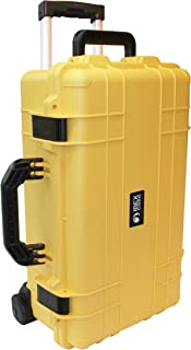 Ibex Cases - Yellow Watertight Carry On Hard Rugged Protective Case with Wheels and Handle for Electronics, Equipment, Cameras, Tools, Drones, and More (IC-1800YLW)