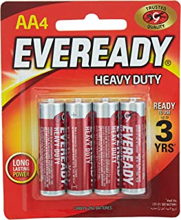 Eveready CZN Red HD 1015 Battery - 4 x AA Batteries