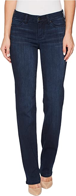 Sadie Straight Jeans in Silky Soft Stretch Denim in Estrella Medium Dark