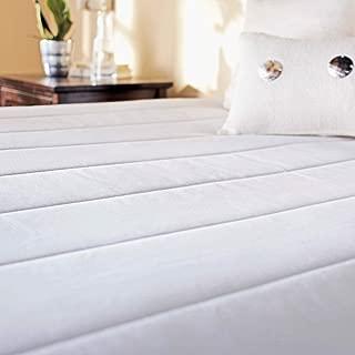 Sunbeam Heated Mattress Pad | Quilted, 10 Heat SettingsSleekSet , White, Twin - MSU3KTS-P000-12A00