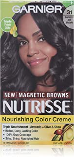 Garnier Nutrisse Nourishing Color Creme, 31 Darkest Ash Brown