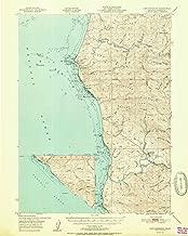 YellowMaps Cape Mendocino CA topo map, 1:62500 Scale, 15 X 15 Minute, Historical, 1951, 20.8 x 16.6 in