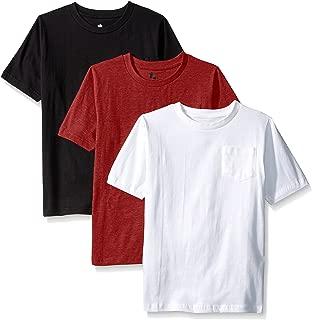 Boys 3 Piece Pack Crew Neck Pocket T-Shirt