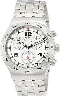 Swatch Men's Silver Again YVS447G Stainless-Steel Swiss Quartz Fashion Watch
