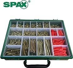 Spax Xpert Wood Screw & Raw Plug Case - 847 Assorted Screws and Organiser Box