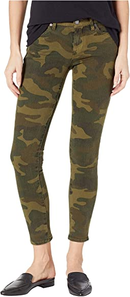 The Reade Crop Camo Skinny Pants in Scout