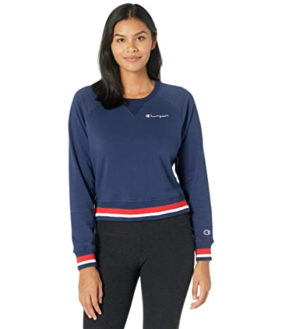 Champion Campus French Terry Crew (Athletic Navy) Women