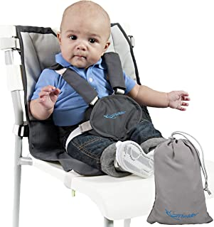 Sit with Us On-The-Go Portable Baby High Chair - Turn Any Chair into a Highchair - Fully Adjustable Infant Hook On Travel Seat w Safety Shoulder Straps and Storage Bag Accessory