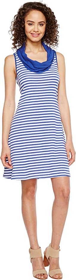 Mykonos Stripes Cowl Neck Dress