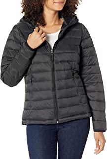 Women's Lightweight Long-Sleeve Full-Zip Water-Resistant Packable Hooded Puffer Jacket